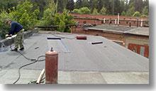 Ремонт крыши гаража рулонными материалами