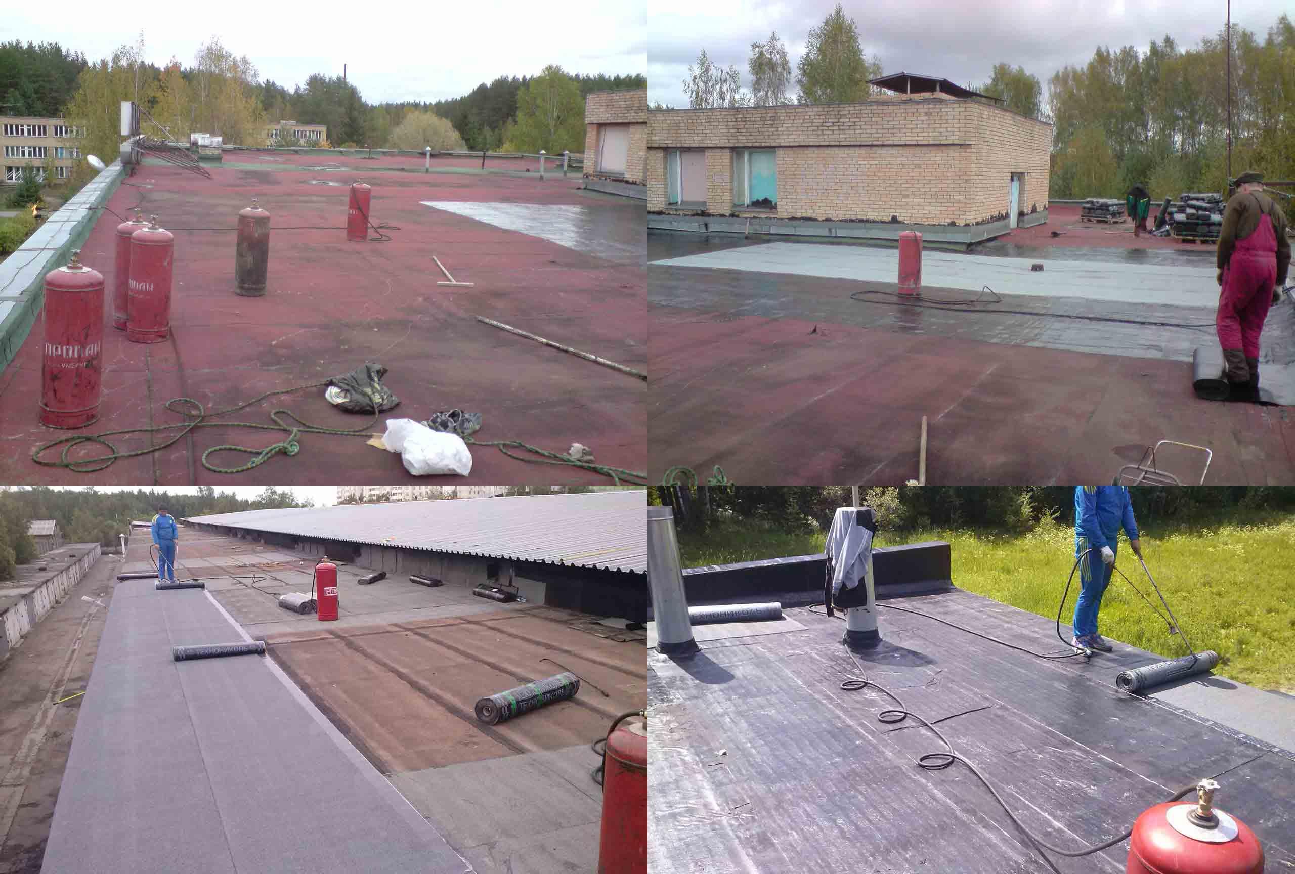 Stroški dela na mehki strehi taljenega materiala