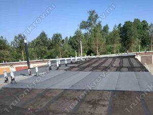 Крыша гаража, покрытая Унифлексом Зеленоград ГСК Спутник