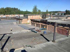 Крыша гаража, покрытая рубероидом Зеленоград ГСК Орбита