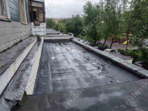Крыша магазина перекрытая материалом Технониколь Красногорск ул. Ленина 5 Б
