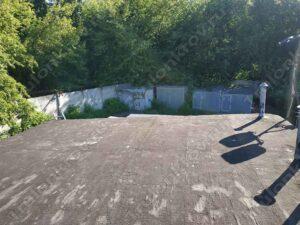 Крыши гаража ул. Фабрициуса покрытая стекло тканью