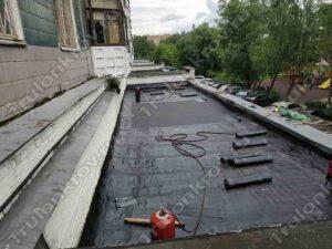 Ремонт мягкой кровли на магазине Красногорск ул. Ленина 5 Б