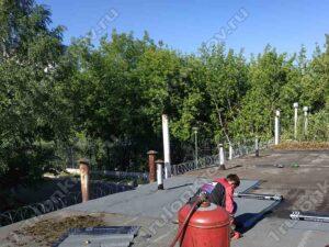 Ремонт крыши гаража в Капотне ГСК Лимон