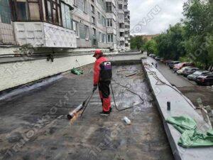 Устройство первого слоя на магазине Красногорск ул. Ленина 5 Б