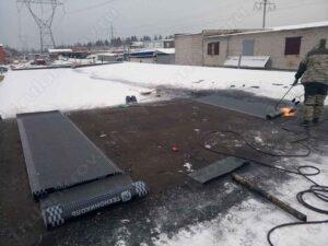 Ремонт крыши гаража зимой