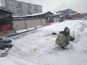 Зеленоград ГК Карат Крыша гаража зимой