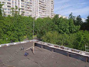 Крыша павильона до ремонта мягкой кровли