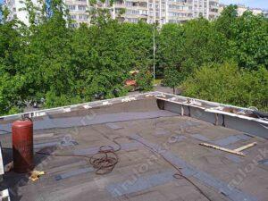 Локальный ремонт плоской крыши павильона