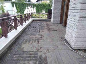 Крыша балкона подготовленная к устройству мягкой кровли