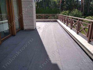 Крыша балкона покрытая Технониколем